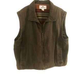 Woolrich Vest Size 2XL Blanket Fleece Lined Canvas